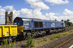 66434 6K22 (Rossco156433) Tags: kilmarnock scotland ayrshire eastayrshire train loco locomotive diesel engine drs class66 shed freight directrailservices electromotivediesel generalmotors 66434 networkrail engineering