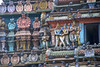 Detail of Carvings on the Temple Gopuram (VinayakH) Tags: halasurusomeshwaratemple bangalore india ulsoor chola vijayanagaraempire kempegowda hindu shiva temple hinduism