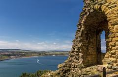 Sea View (Darren Flinders) Tags: sea summer castle outdoors coast seaside ruins yorkshire coastal heat coastline scarborough blueskies northyorkshire bluesea yorkshirecoast