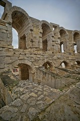 Interior wall of the Roman amphitheater at Arles, France (mharrsch) Tags: amphitheater arena arch architecture roman ancient arles arelate france mharrsch
