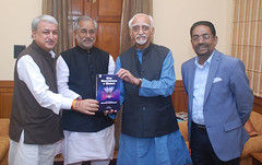"""#VicePresident M.Hamid Ansari being presented a #book titled """"Give Nonviolence a Chance: The Journey of Neelakanta Radhakrishnan edited by Dr. #AnoopSwarup (legend_news) Tags: vicepresident mhamid ansari being presented book titled give nonviolence chance the journey neelakanta radhakrishnan edited by dr anoopswarup"""
