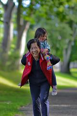 160814930 (syf22) Tags: ramona piggyback grandma grandmother kid infant fun toddler  smile funtime granny granddaughter girl littlegirl ride play happy lass lassie quine nan joy joyful
