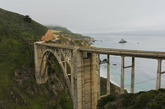 The Other Side Of Bixby (tourtrophy) Tags: highway1 pacificcoastalhighway bigsur bixbybridge hwy1 californiacoast pacificcoast pacific nikoncoolpixa bridge