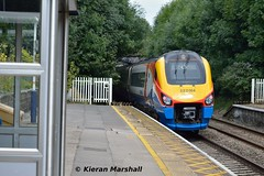 222004 passes Belper, 15/8/16 (hurricanemk1c) Tags: railways railway train trains 2016 emt eastmidlandstrains class222 class2220 meridian bombardier belper 222004 1f25 1058londonstpancrassheffield