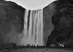 Refreshment (heinrich_511) Tags: waterfall skogafoss iceland bw blackandwhite summer hair heart hl thoughts island north nord insel day south area style dream d750 2485mm nikkor hope