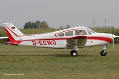D-EGWO - 1966 build Beech A23 Musketeer, arriving at Tannheim during Tannkosh 2013 (egcc) Tags: degwo tannheim edmt tannkosh 2013 beech beechcraft a23 musketeer m771
