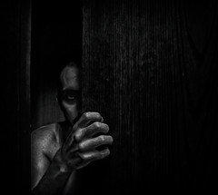 The Monster (Mo Saeed) Tags: monster friends black white horror others conceptual mohammedsaeed moody portrait photography emotions project canon fineart feelings self died gettyimage