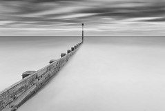 Boscombe (mg photography2) Tags: long exposure dorset uk england britain seascape sea clouds travel boscombe groyne cloudscape canon bw black monochrome mono beach 16 stop white