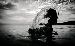 Atlantis ( Peppedam -www.glam.vision) Tags: hair water lasgaleras samana republicadominicana mygirl sea beach bw cute open wild travel nikon aw130