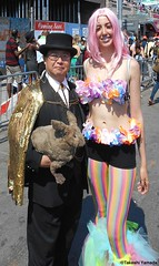 Dr. Takeshi Yamada and Seara (Coney Island Sea Rabbit) at the Mermaid Parade by the Coney Island Beach in Brooklyn, New York on June 18, 2016.  20160618SAT MERMAID PARADE. DSCN6604=p2010C1 (searabbits23) Tags: searabbit seara takeshiyamada  taxidermy roguetaxidermy mart strange cryptozoology uma ufo esp curiosities oddities globalwarming climategate dragon mermaid unicorn art artist alchemy entertainer performer famous sexy playboy bikini fashion vogue goth gothic vampire steampunk barrackobama billclinton billgates sideshow freakshow star king pop god angel celebrity genius amc immortalized tv immortalizer japanese asian mardigras tophat google yahoo bing aol cnn coneyisland brooklyn newyork leonardodavinci damienhirst jeffkoons takashimurakami vangogh pablopicasso salvadordali waltdisney donaldtrump hillaryclinton endangeredspecies parade