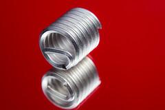 Thread Repair Insert (Wildman 60D) Tags: macromondays inthemirror mirror reflection m42 60d extensiontube background yn560 11734
