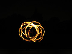 (Kelvin P. Coleman) Tags: canon powershot nottingham people performer fire spinning twirling performance arboretum afterhours night firespinning firetwirling fireperformance flame flaming poi longexposure light trails lighttrails outdoor