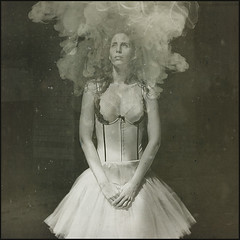 moondust (biancavanderwerf) Tags: dust model bianca woman ballerina ballet smoke portrait portraiture square mono urbex urbanexploration