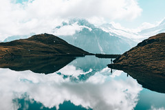 Reflection (noson.photo) Tags: bachalpsee lake reflection reflections grindelwald first wasser water sky clouds mountain mountains switzerland schweiz nikon alpen alps