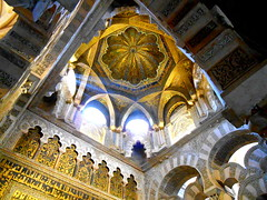Mezquita/Cathedral Cordoba (Chris Draper) Tags: mezquita cathedral cordoba spain mosque andalucia archtiecture stripes striped extraordinary abdarrahman arch arches candystripe arabic moorish light