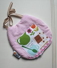 Baby Bib with Applique (_Giorgia) Tags: baby bib bibs pink applique handmade theorangedandelion
