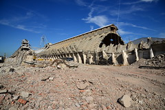 "Demolition job ""Potash"" warehouses DST_5457 (larry_antwerp) Tags: euroports potas magazijn warehouse demolition afbraak antwerp antwerpen       port        belgium belgi"