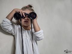 Arina (Roman Styx) Tags: arina art baby kid littlegirl binoculars fun portrait kids