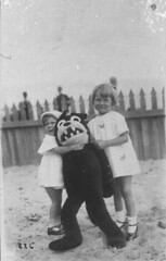 Felix the Cat toy - Nielsen Park Beach, Sydney, NSW, 1926, street photographer (State Library of New South Wales collection) Tags: statelibraryofnewsouthwales