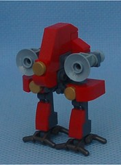 Red Ostrich (Mantis.King) Tags: kreo lego legogaming legomecha moc mechaton mobileframezero mfz mf0 microscale mecha mech scifi futuristic ostrich brickblend wargames