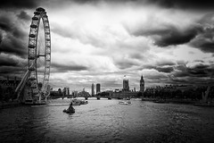 the usual suspects (ChrisRSouthland) Tags: london thames riverthames londoneye sky river city skyline bigben contrast bw strongcontrast england leica monochrome mmonochrom mm elmarit28mmf28 clouds londonskyline westminsterabbey westminster