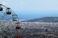 View  over Barcelona (by_irma) Tags: tibidado barcelona spain spanje city stad reuzenrad berg heuvel hill