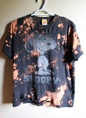 Splatter Bleached and Shredded Classic Snoopy T Shirt (shopthegasstation) Tags: tshirt tee shirt top jersey clothing gasstation etsy bleached bleach dye dyed shredded ripped cut destroyed splatter splattered black snoopy peanuts dog classic graphic mens guys unisex clothes cartoon retro