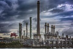 Industrial Landscape (Peet de Rouw) Tags: hdr pernis shell refinery botlek peetderouw denachtdienst