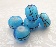 Warm Shores (1) (Glittering Prize - Trudi) Tags: blue glass beads warm handmade wrap shores artisan frit glitteringprize