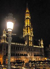 Brussels (MikePScott) Tags: camera brussels sky tower night clouds lens streetlight belgium streetlamp lamppost belge builtenvironment grandeplace architecturalfeatures nikond300 tokina1116mmf28 featureslandmarks towersetc