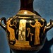 Hydria with Red-Figure Grave Scene of Women Offering Fillets to the Deceased Apulian Greek 450-300 BCE terracotta