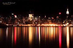 New York City After Dark (Ronaldo F Cabuhat) Tags: nyc longexposure nightphotography travel vacation ny newyork reflection water skyline canon photography newjersey cityscape manhattan hudsonriver empirestatebuilding hoboken gothamcity thebigapple canoneos5dmarkii cabuhat newyorkcityafterdark