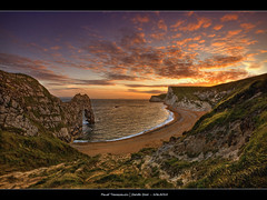 106.2012 - Sunset - DurdleDoor.Frame (Pawel Tomaszewicz) Tags: uk light sunset shadow wallpaper england sky colors beautiful clouds photoshop sunrise canon lights europe view image creative wideangle dorset lightning fotografia dri hdr poole hdri anglia chmury photomatix greatphotographers wyspa wyspy tomaszewicz paweltomaszewicz