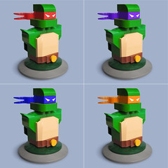 Lego Teenage Mutant Ninja Turtles (Fredoichi) Tags: sculpture art lego cartoon bust turtles animation movies videogame teenagemutantninjaturtles tmnt rendition fredoichi