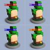 Lego Teenage Mutant Ninja Turtles (Fredoichi) Tags: sculpture art lego cartoon bust turtles animation movies videogame teenagemutantninjaturtles tmnt rendition fredoichi