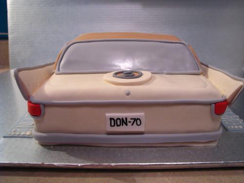 classic car: rear view