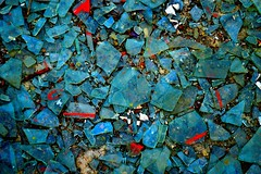 broken glass (sc13ntific) Tags: blue urban abstract abandoned broken glass decay mosaic infiltration abstraction exploration yon