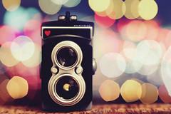 (Amanda Mabel) Tags: camera light stilllife macro tlr night lens toy photography miniature heart bright bokeh twinlensreflex amandamabel