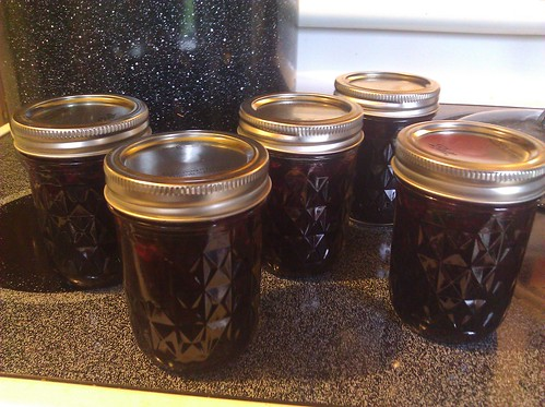 cooked blueberry jam