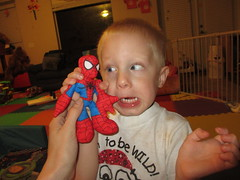 IMG_0055 (drjeeeol) Tags: toys funny spiderman will triplets toddlers 2012 26monthsold