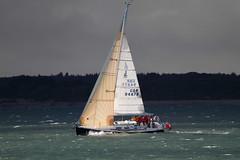 JUMUNU GBR9487 R (John Ambler) Tags: lighting sun up rain with yacht background sails solent heavy rin clould jumunu gbr9487