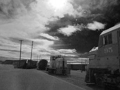 Train Museum in Barstow (TheJudge310) Tags: california ca usa train canon unitedstates telephone powershot poles 2012 barstow s95