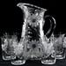 234. Etched Glass Lemonage Set