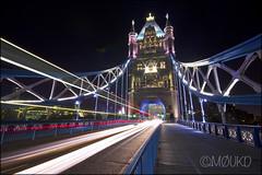 Tower Bridge at night - Wide angle 10mm (John Parfrey) Tags: night towerbridge lights colours london2012 olympicrings