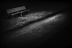 bench and path (StephenCairns) Tags: canada night dark bench lowlight shadows hamilton nocrop vacationphotos dundurnpark stephencairns 50mmcanonf14