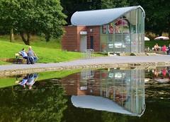 Sefton Park Lake (Radarsmum67) Tags: park summer lake reflection liverpool peace peaceful sunny reflect seftonpark merseyside sefton publicparks