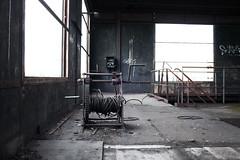 19: Le treuil manuel (Bourguiboeuf) Tags: old urban plant france abandoned industry canon vintage canal burgundy mines carbon coal dslr bourgogne industrie usine dsaffect montceau bourguiboeuf