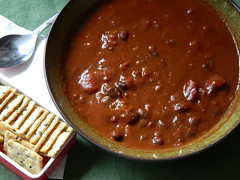 Smokey Chipotle Chocolate Chili (AbelZ728) Tags: food brown dinner lunch pepper soup vegan chili chocolate tomatoes sugar foodporn smokey onion blackbeans cumin paprika chipotle oregano galic healthyfood iatethis cocoapowder darkchocolate afoodphotographyexperience veggiebroth