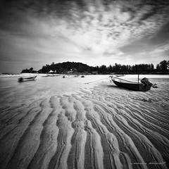 stuck in the mud (sirman88) Tags: light panorama lake motion blackwhite interestingness dusk geometry glorious malaysia f18 pointing terengganu promising revisited traveldestinations kemaman buildingexterior pantaikemasik d7000 sirman photographyoutdoors azmanrahman sirman88