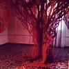 Albero rosso (ufocinque) Tags: red tree art paper handmade cut installation albero rosso papercut 2012 vicenza schio ufo5 ufocinque pulsart